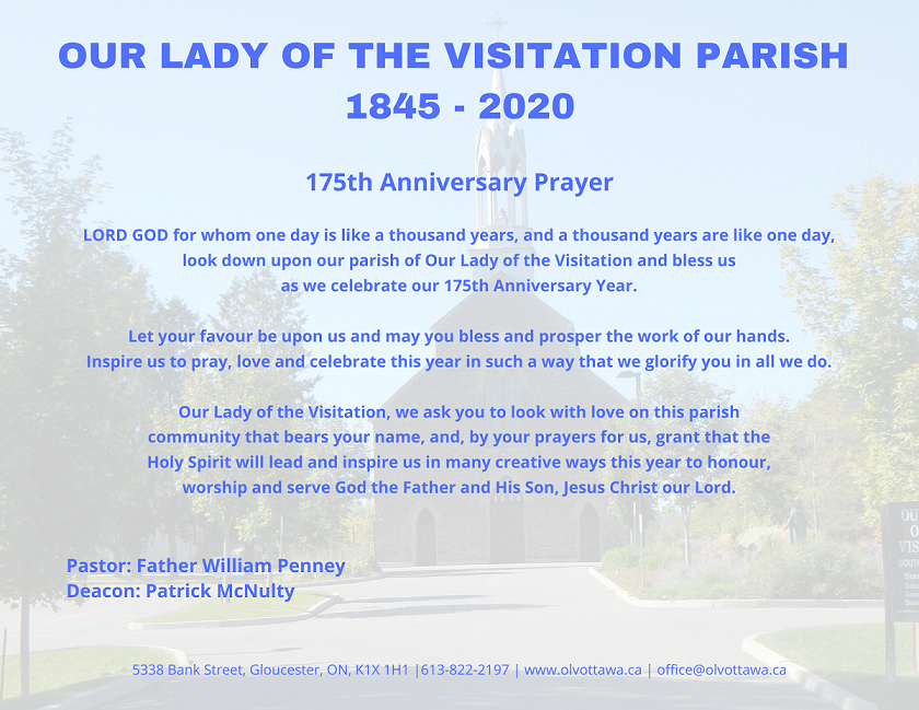 OUR LADY OF THE VISITATION PARISH 1845 2020p1